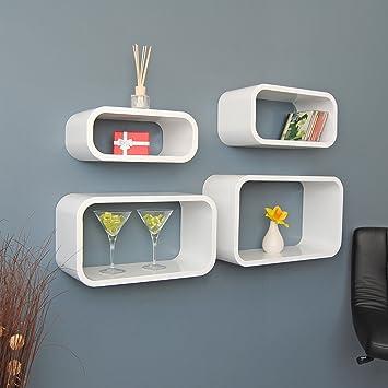 Hängeregal design  4er Set Lounge Regal Design Retro 70er Cube Wandregal Hängeregal ...