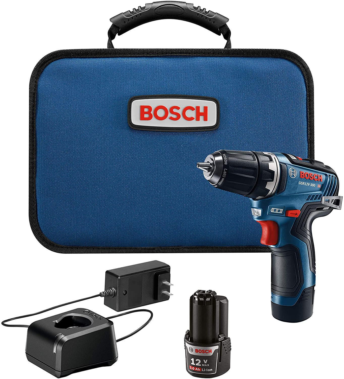 Bosch GSR12V-300B22 12V Max EC Brushless 3/8 In. Drill/Driver Kit