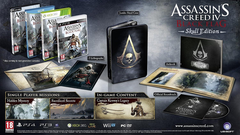 Amazon Com Assassin S Creed Iv Black Flag Skull Edition Ps3