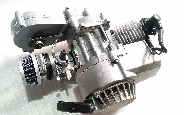 Motor completo de 2 Stroke, 49 cc, cilindro único, caja de transferencia para minimotos.: Amazon.es: Coche y moto