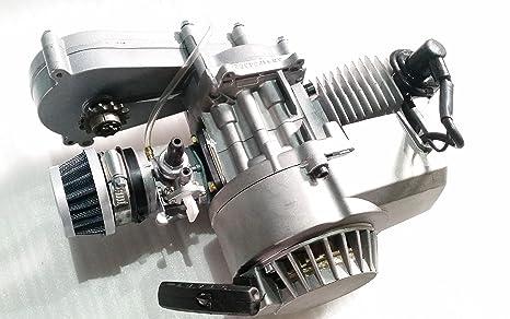 Motor completo de 2 Stroke, 49 cc, cilindro único, caja de transferencia para
