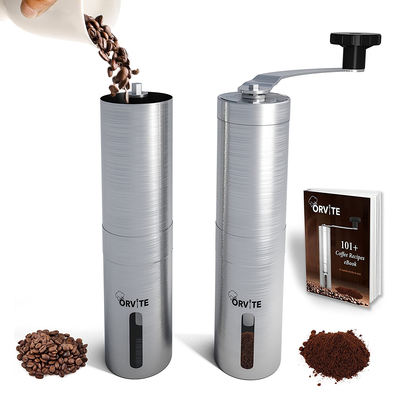 amazon com orvite ceramic burr manual coffee grinder portable rh amazon com manual burr coffee grinder made in usa manual burr coffee grinder review