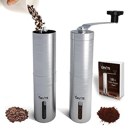 amazon com orvite ceramic burr manual coffee grinder portable rh amazon com manual coffee grinder reviews uk manual coffee grinder review zassenhaus