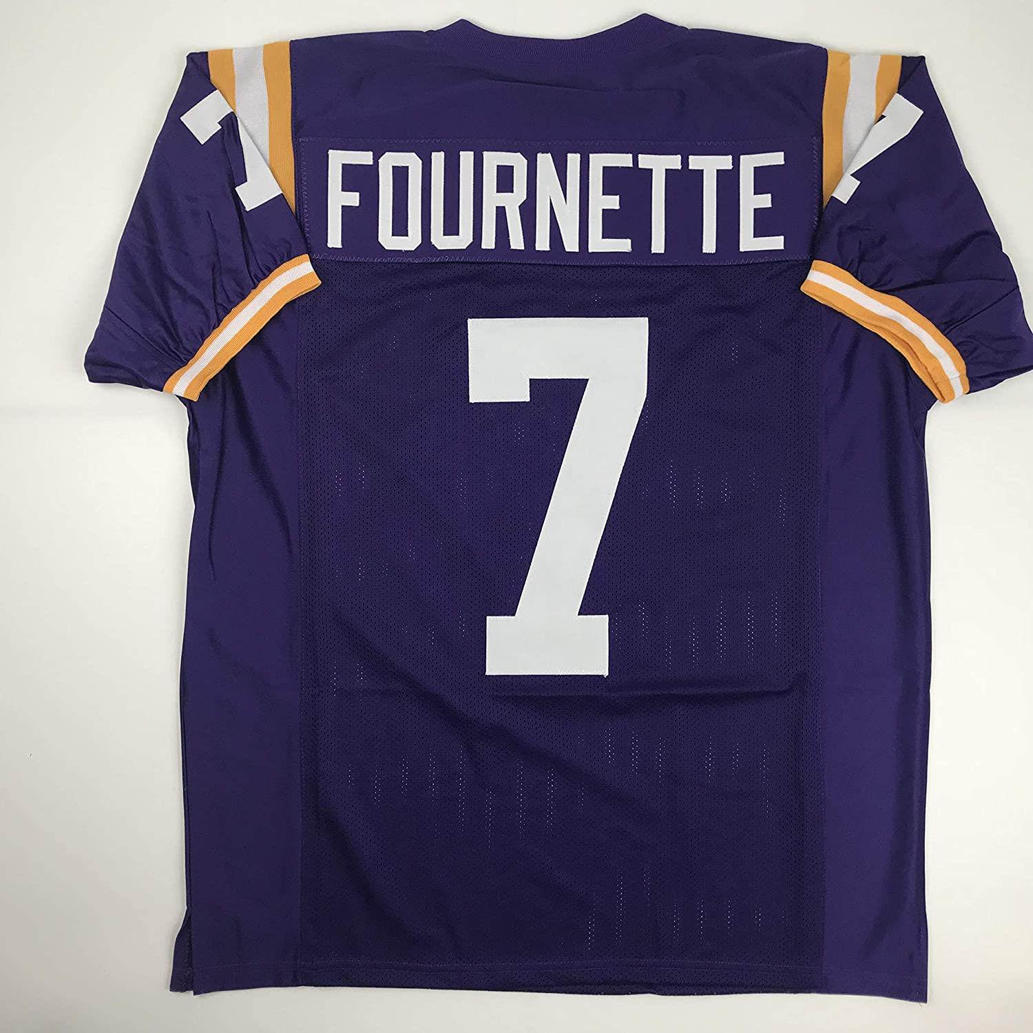 newest a2938 b0617 Amazon.com: Unsigned Leonard Fournette LSU Purple Custom ...
