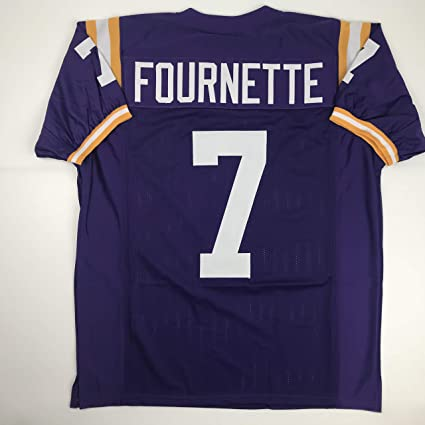 8e72b4562 Unsigned Leonard Fournette LSU Purple Custom Stitched College Football  Jersey Size Men s XL New No Brands