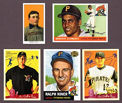 Pittsburgh Pirates 5 Card Heros And Hall Of Famer Reprint