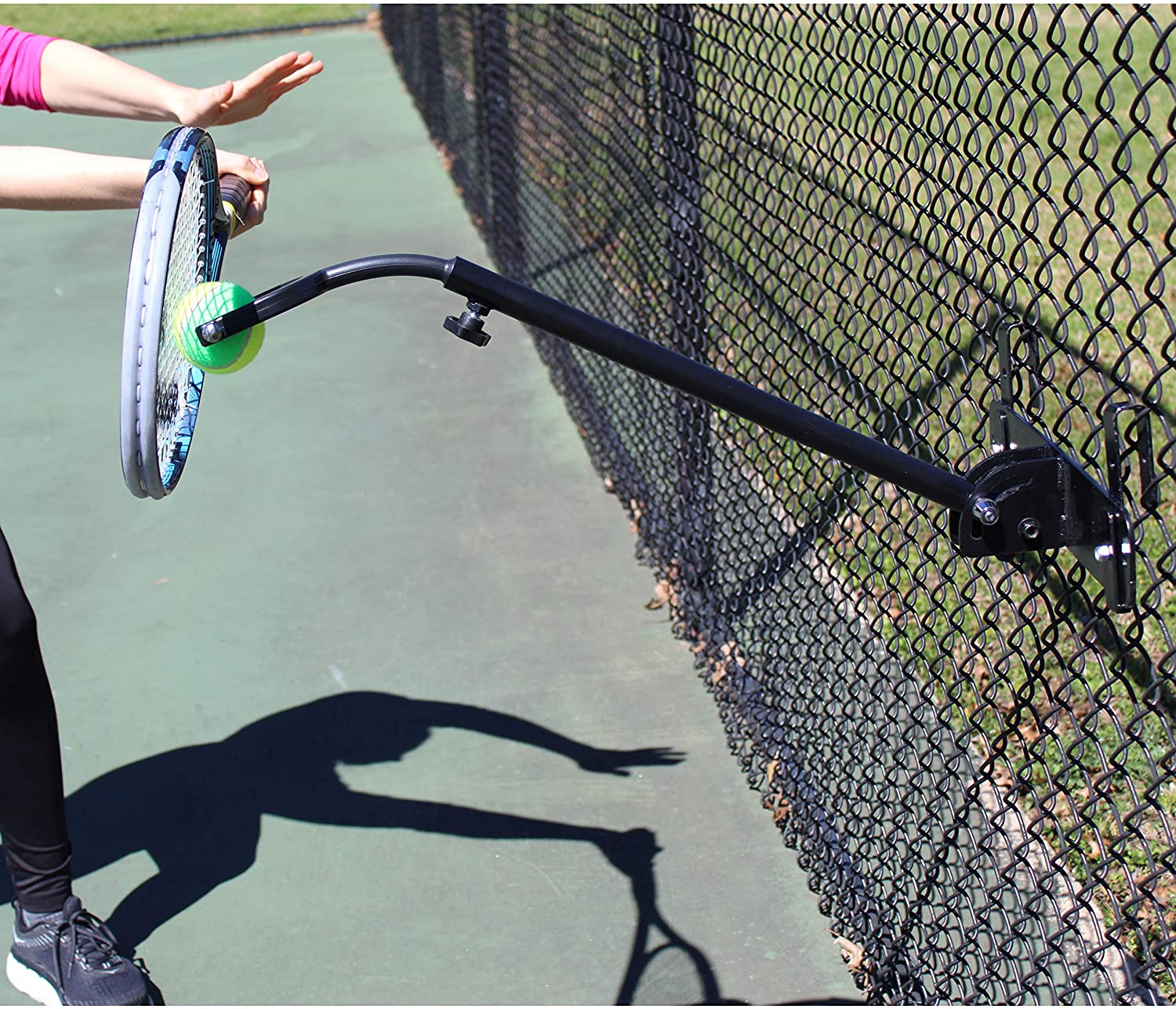 TopSpin Solution - Tennis Training Aid | Practice Nearly All Shots in Tennis Anywhere | Attaches Indoors & Outdoors | All Ages and Skill Levels | Players and Coaches : Sports & Outdoors