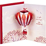 Hallmark Paper Wonder Valentines Day Pop Up Card for Significant Other (Hot Air Balloon Valentine)