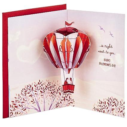 Amazon Com Hallmark Paper Wonder Valentine S Day Pop Up Card For