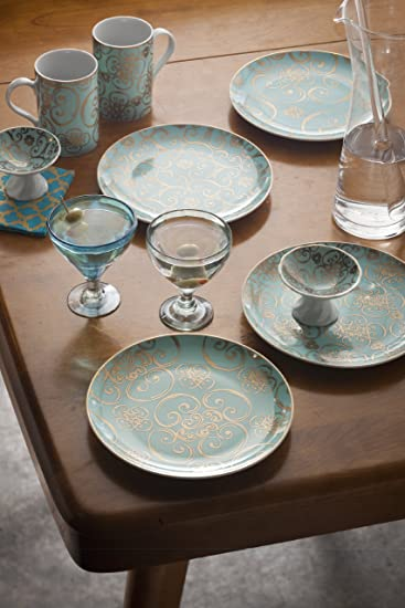 Amazon.com: Rosanna Arabesque Assorted Designs Footed Dipping Dishes ...