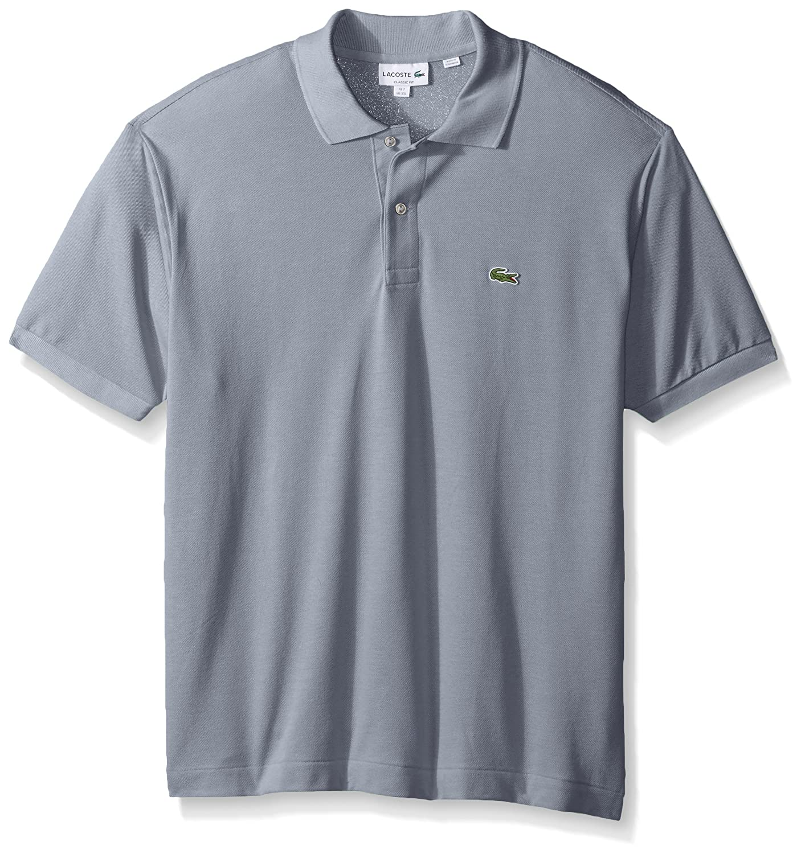 Lacoste ラコステMen's L-1212,半袖 鹿の子 ポロシャツ(並行輸入品) B01MA6N67H Medium Mill Blue Mill Blue Medium