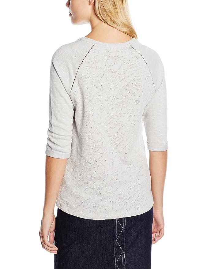 ESPRIT Damen Langarmshirt Aus Spitze, Gr. 36 (Herstellergröße: S), Grau (Light  Grey 040): Amazon.de: Bekleidung