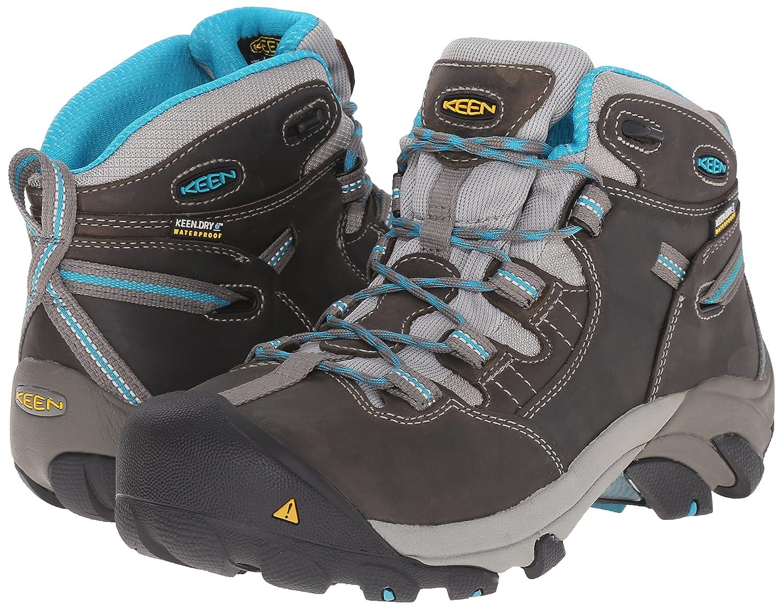 Amazon.com | KEEN Utility Womens Detroit Mid Work Boot, Gargoyle/Capri Breeze, 7 M US | Shoes