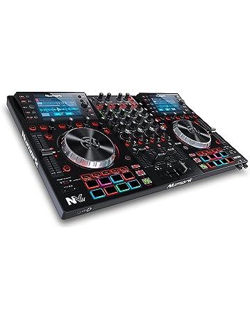 Numark NVII - Controlador de DJ de Doble Pantalla y 4 Decks para Serato DJ (