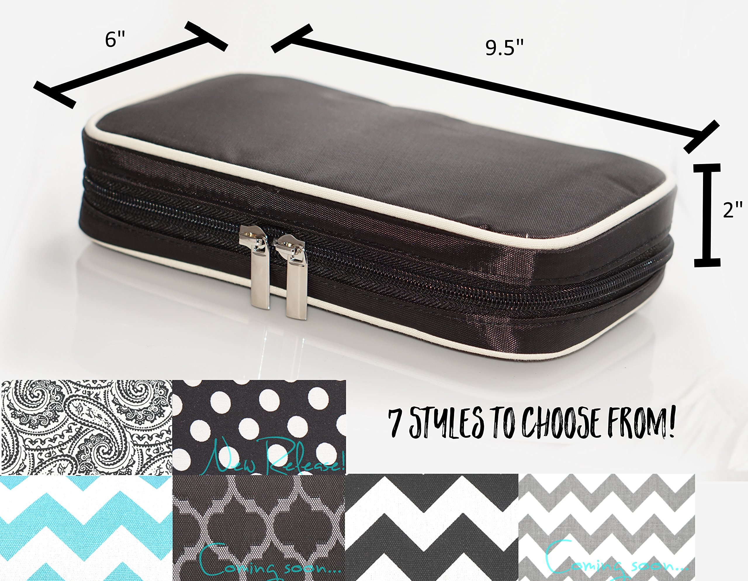 Jewelry & Accessories Travel Organizer Bag Case (Black) by Simple Accessories (Image #3)