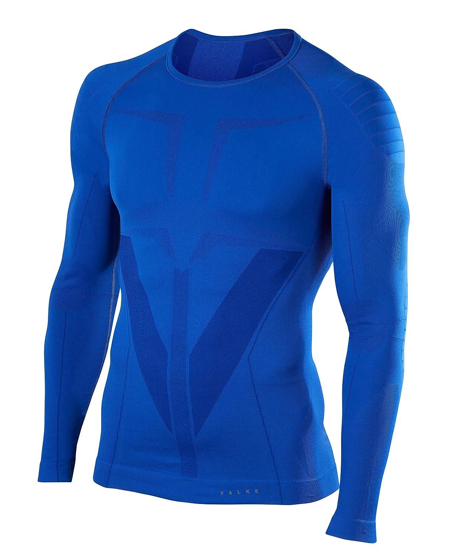 FALKE Herren Warm Long Sleeve Close Fit Langarmshirt, 1 Stück, versch. Farben, Größe  S-XXL - Feuchtigkeitsregulierend, schnelltrocknend, Schutz bei milden bis kalten Außentemperaturen