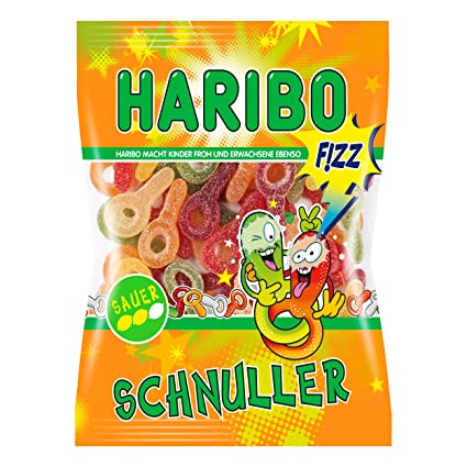 Haribo saure Schnuller (Sour Chupete) 200 g: Amazon.com ...