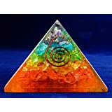 Charged Gemstone Orgone Pyramid – Certified Orgonite® Healing Crystals and Copper MultiMineral Bio–Energy Enhancing Tool by Beverly Oaks