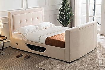 Flair Furnishings Juliet Side Lift Ottoman TV Bed Kingsize