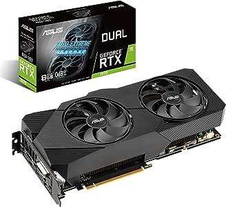ASUS Dual NVIDIA GeForce RTX 2070 EVO V2 OC Edition Gaming Graphics Card (PCIe 3.0, 8GB GDDR6 memory, HDMI, DisplayPort, DVI-D, Axial-tech fan, 0dB technology, DirectCU II, Auto-Extreme) (DUAL-RTX2070