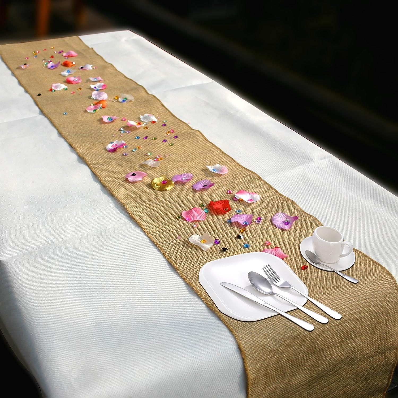 Time to Sparkle TtS 10Mx30cm Rotolo Runner da Tavola in Iuta Juta Naturale Rustico per Matrimoni Stile Decorazione Boda Iuta 10Mx30cm