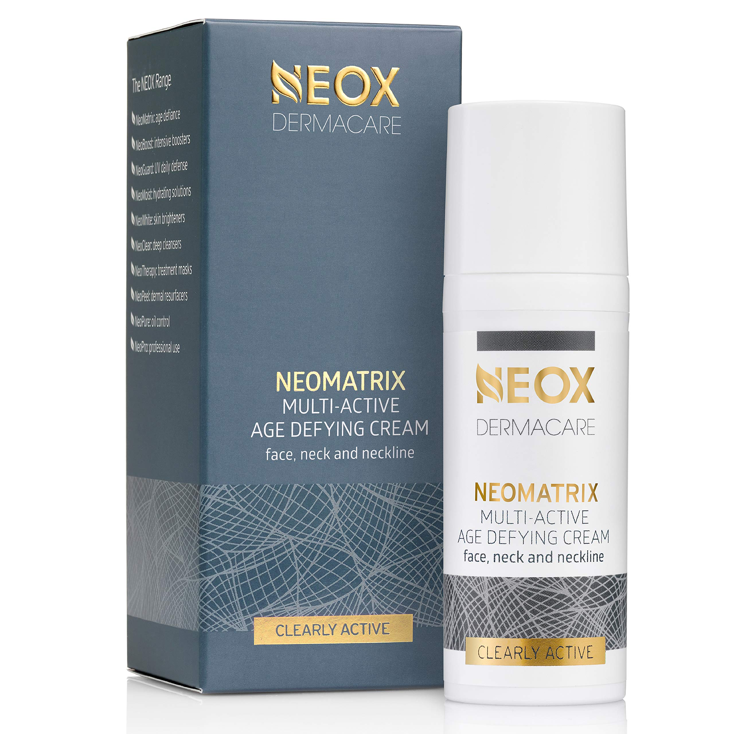 NeoMatrix Anti Wrinkle Cream Multi-Active Age Defying Cream by NEOX DERMACARE: 10 Treatments in One of Anti-Aging, Anti-Wrinkle, Firming, Lifting on Face, Neck or Neckline