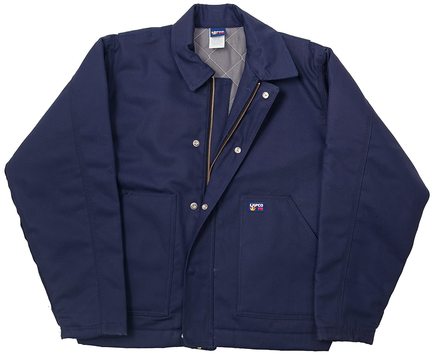 - LAPCO JTFRNYDK-2XL RG 12-Ounce Flame Resistant Duck Insulated Jacket, Navy