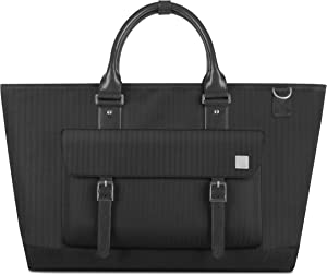 "Moshi Costa Travel Satche Crush-Resistant, for 13-15"" Laptop, ipad, Men Shoulder Strap Bag, Camera Briefcase (Slate Black)"