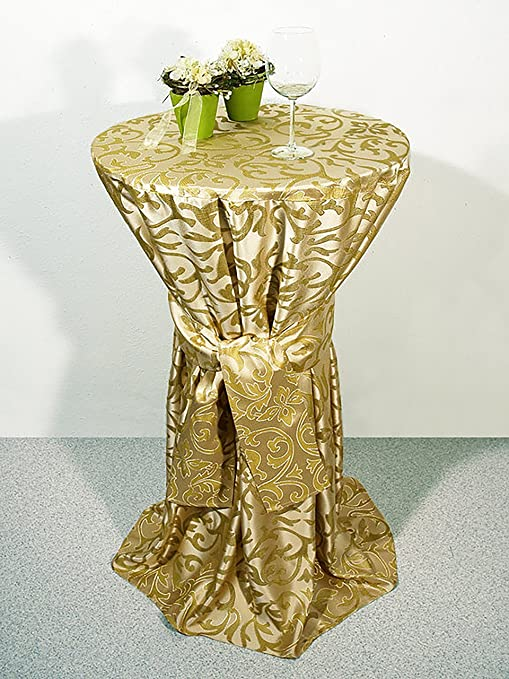 Stehtischhusse ROT 70 cm  glänzend Hochzeit Stehtisch Husse Stehtischhussen