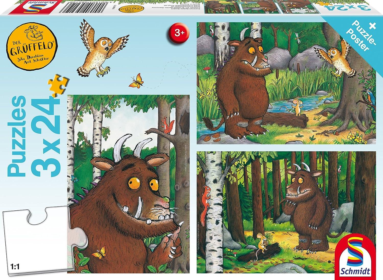 3 x 24 Teile Puzzle Spiel Deutsch 2017 Der Grüffelo Mein Freund der Grüffelo