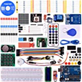 Longruner Upgrade RFID Master Starter Kit for Arduino with Tutorials, UNO R3, RC522, LCD1602, Breadboard and Sensors Modules Motor Servo Jumper Wire LK6