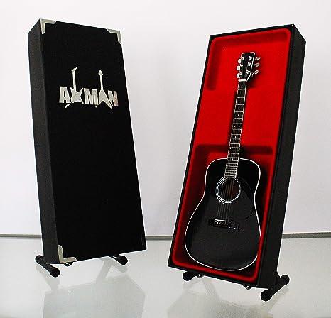 Miniatura Guitarra Replica: Johnny Cash negro Acústica D-35 ...