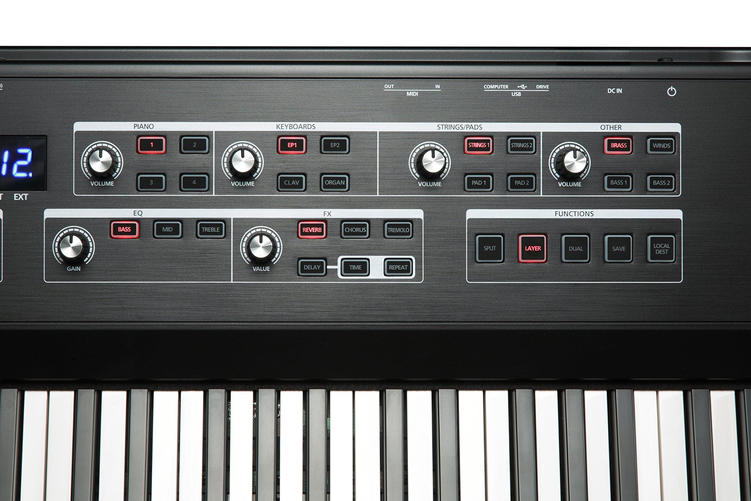 Kurzweil SP1 88-Key Stage Piano, Black (SP1-LB) by Kurzweil (Image #9)