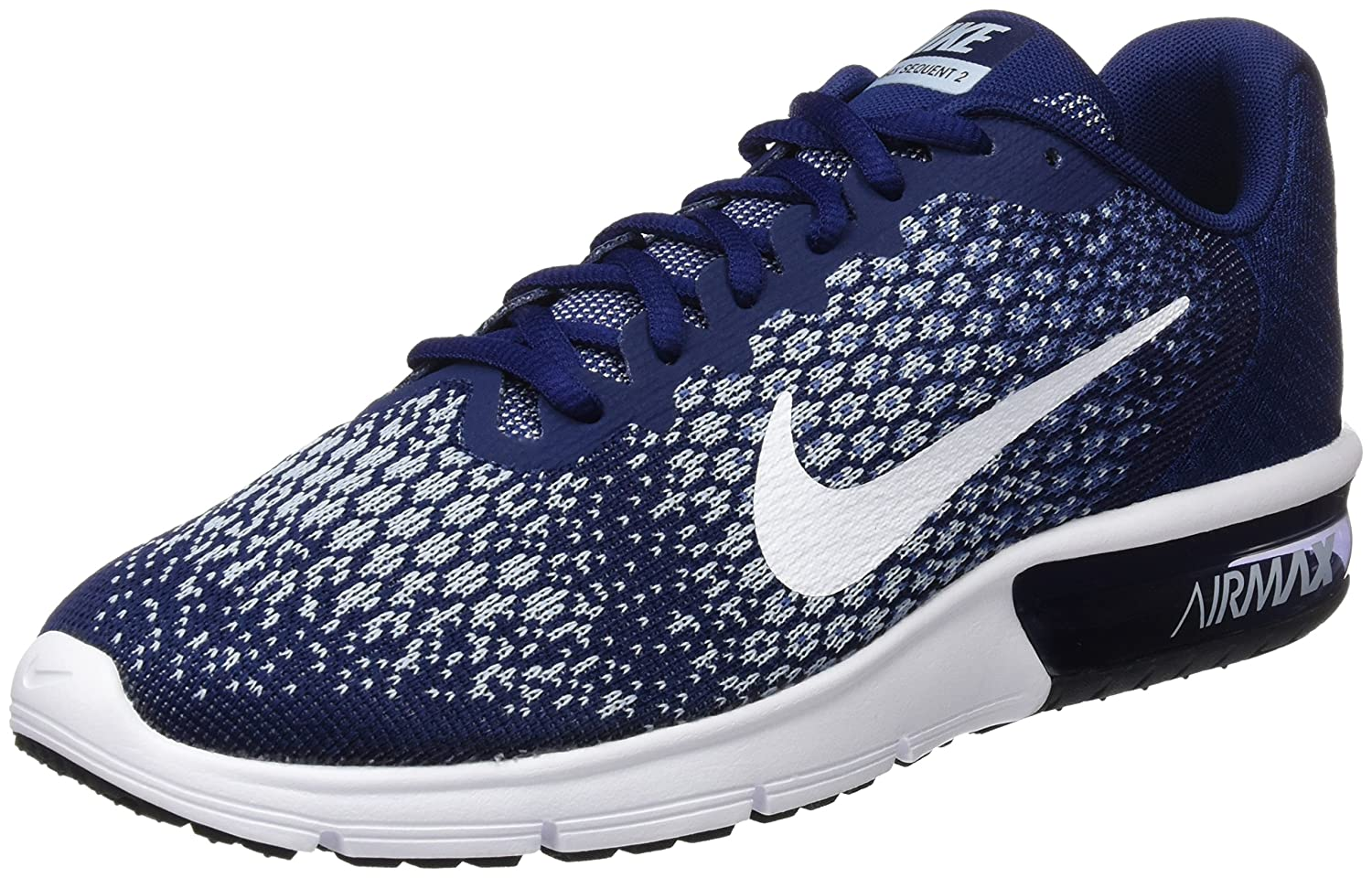 NIKE Men's Air Max Sequent 2 Running Shoe B01H2LP66M 8 D(M) US|Binary Blue/White-blue Moon