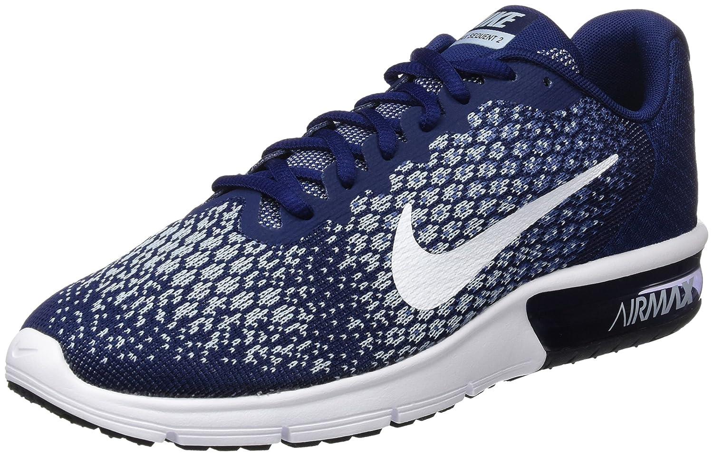 NIKE Men's Air Max Sequent 2 Running Shoe B01H2LP87Y 9 D(M) US|Binary Blue/White-blue Moon