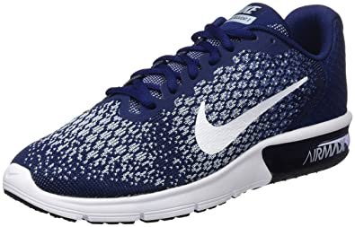 NIKE Air Max Sequent 2, Chaussures de Tennis Homme, Bleu (Binary White Moon
