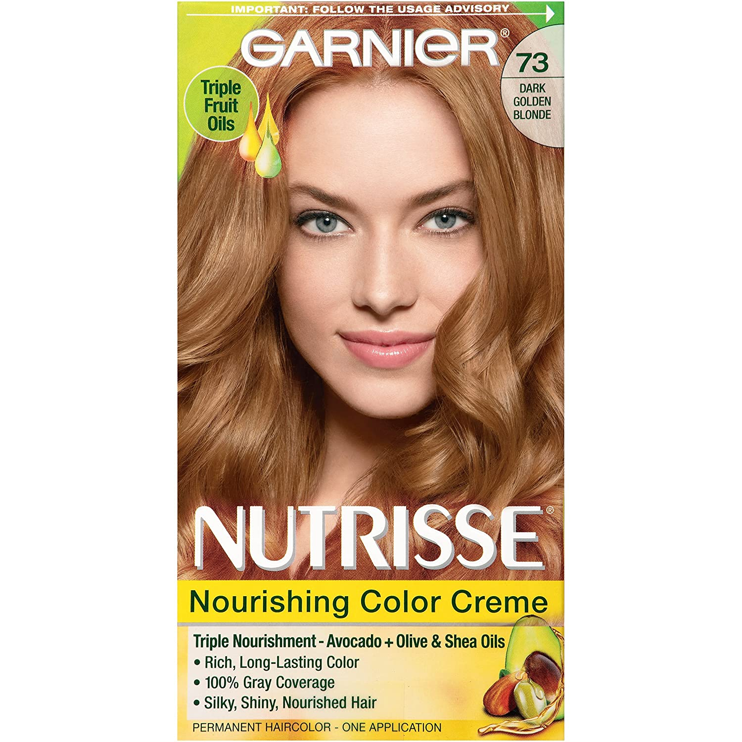Buy Garnier Nutrisse Hair Color, 73 Dark Golden Blonde Honeydip ...