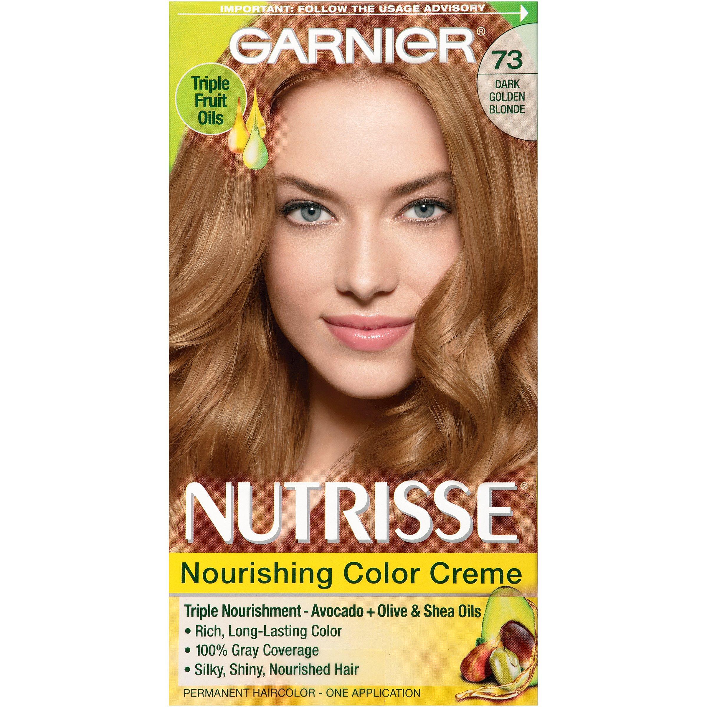 Amazon garnier nutrisse ultra color nourishing hair color garnier nutrisse nourishing hair color creme 73 dark golden blonde honey dip nvjuhfo Images