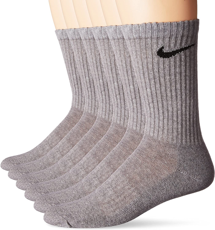 6 Pairs NIKE Performance Cushion Crew Socks with Bag
