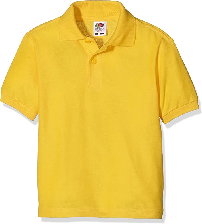 Fruit of the Loom Boys Polo Shortsleeve, Sunflower, 3/4 años (104 ...