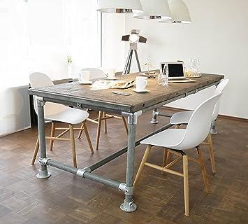 Cosywood Tisch Industrie Stil Massive Esstisch Modern Gerust Holz