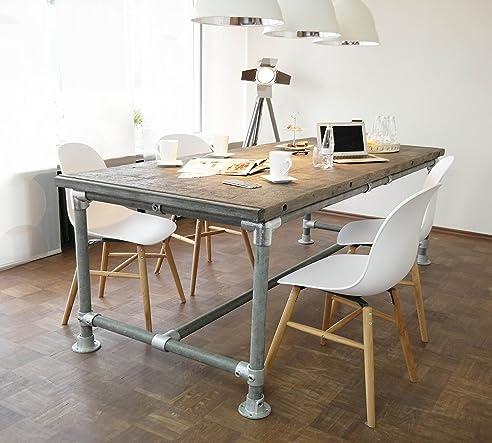 Tisch Industrie Stil Massiv Modern Neu Gerüst Holz Esstisch Vintage (4 6  Pers.