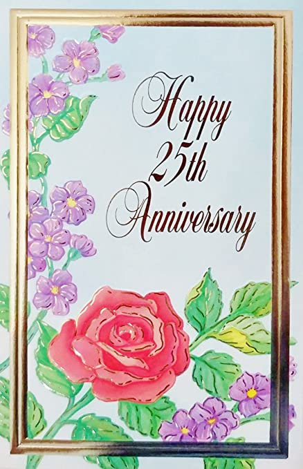 amazon com happy 25th anniversary greeting card 25 years 25th