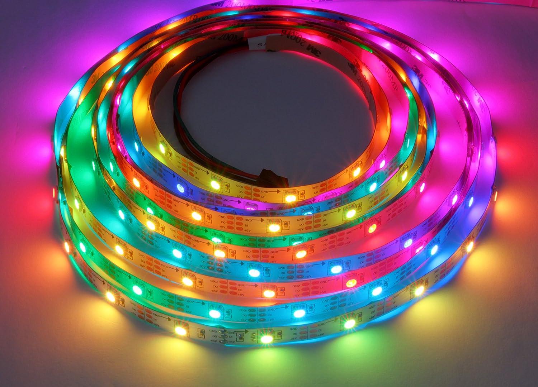 5m 150 LEDs WS2812B 5050 RGB Stripe Stripe Stripe schwarz mit WS2811 Controller 036b03