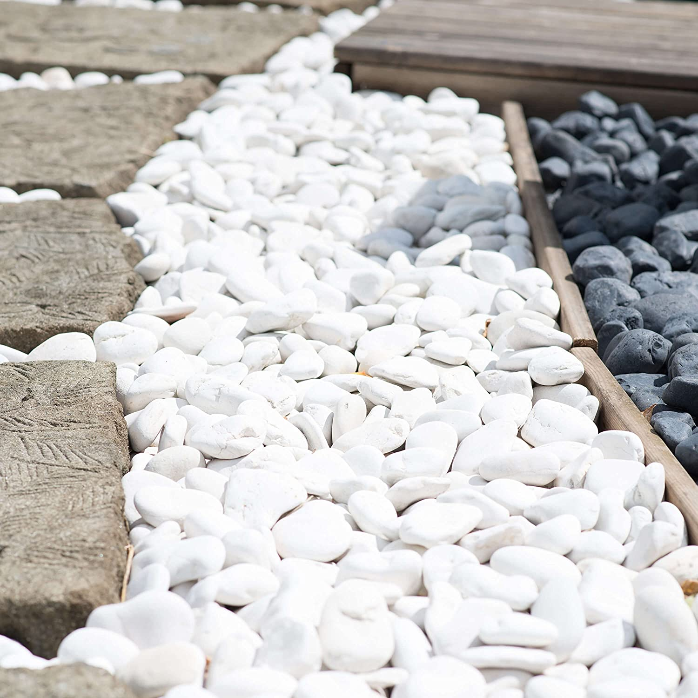 Wanda collection 5 Bolsas de Piedras Blancas de 20 kg: Amazon.es: Jardín
