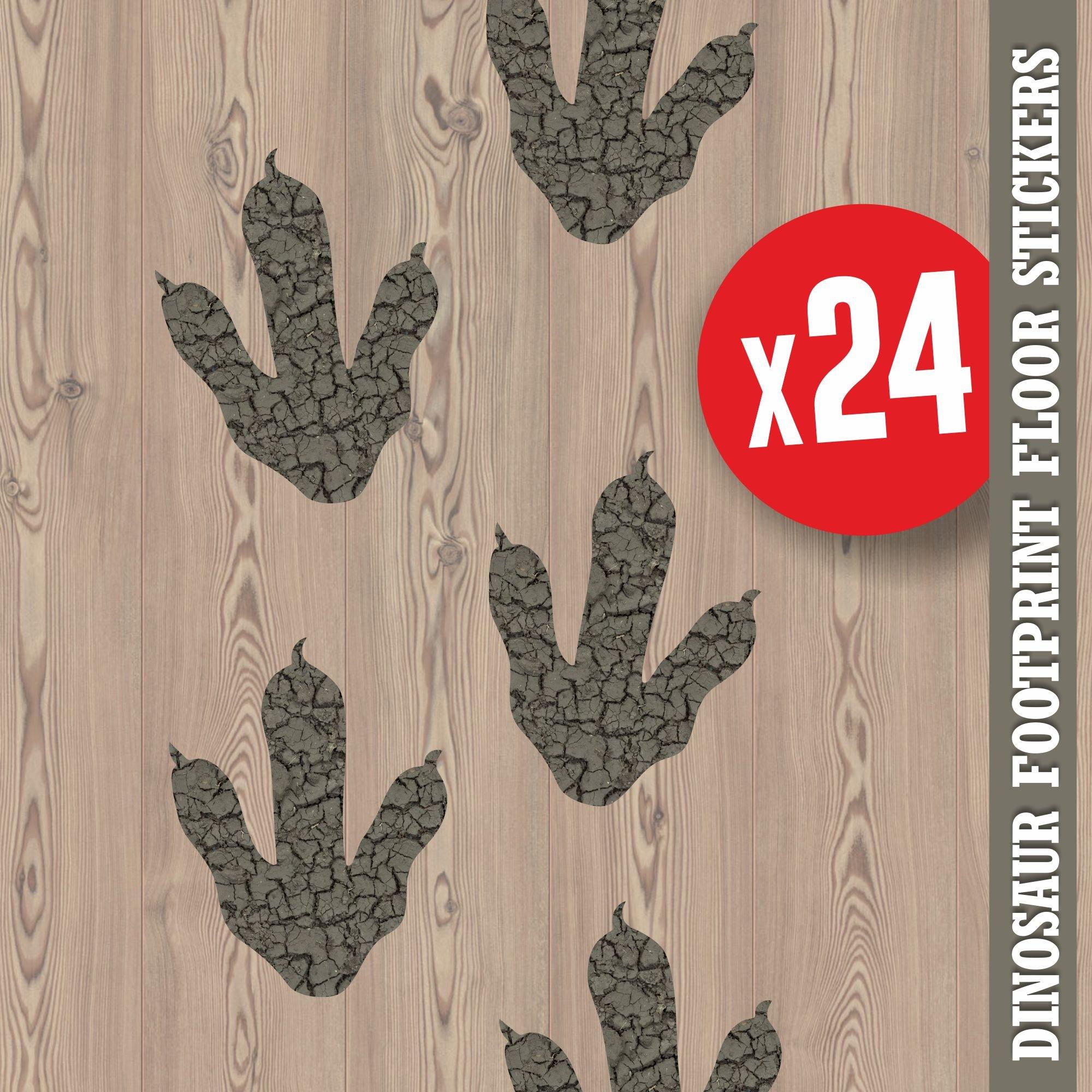 Dinosaur Footprints Prints Floor Stickers Foot Prints Jurassic World Style
