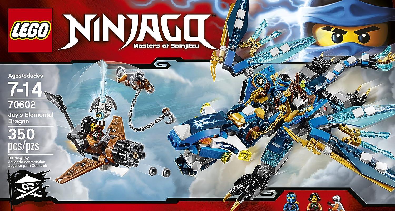 amazoncom lego ninjago jays elemental dragon 70602 toys games