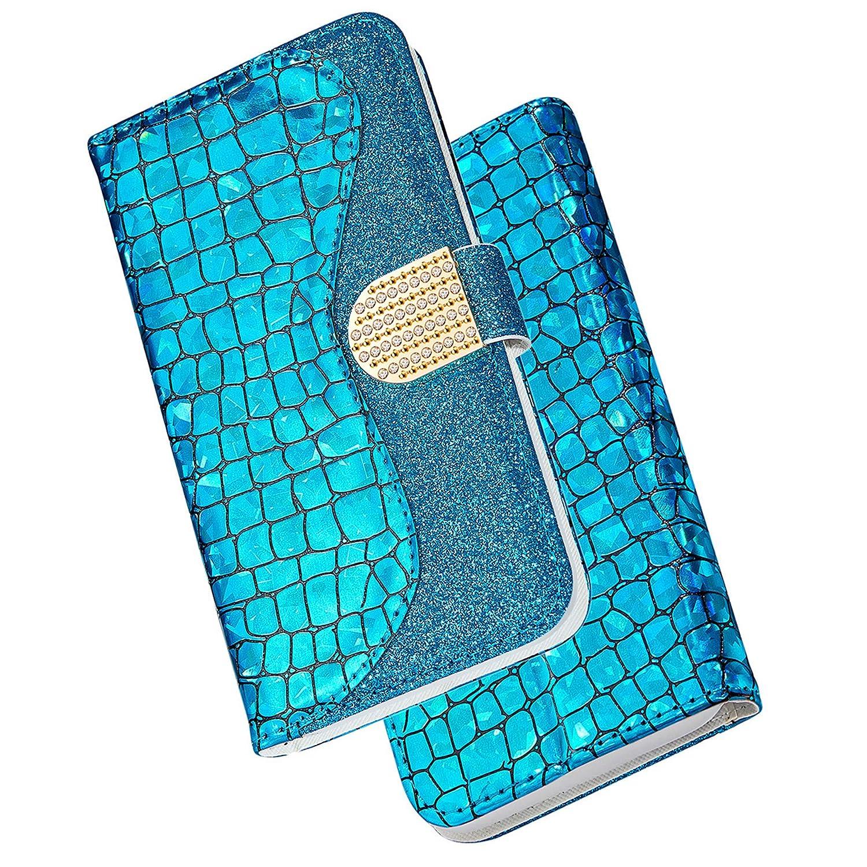 Dclbo H/ülle f/ür Samsung Galaxy S9,Handyh/ülle Bling Glitzer Schutzh/ülle Handytasche Lederh/ülle Klapph/ülle Magnet Kreativ Flip Case Brieftasche Ledertasche f/ür Samsung Galaxy S9-Gr/ün