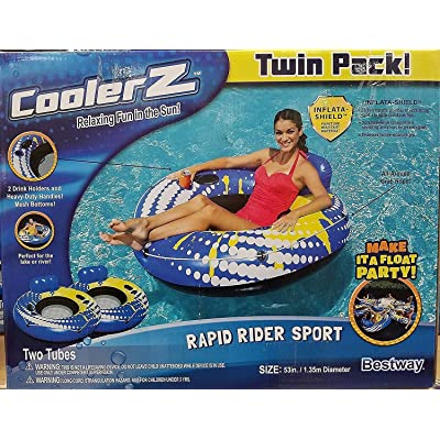 "CoolerZ Rapid Rider Sport, Twin Pack, 53"" Party float.: Toys & Games"