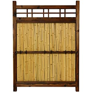 Oriental Furniture 4 ft. x 3 ft. Japanese Bamboo Kumo Fence